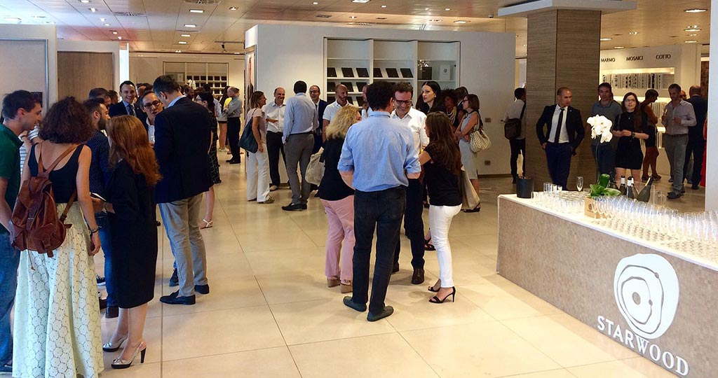 The Porcelanosa showroom in Milan hosts the presentation of Starwood