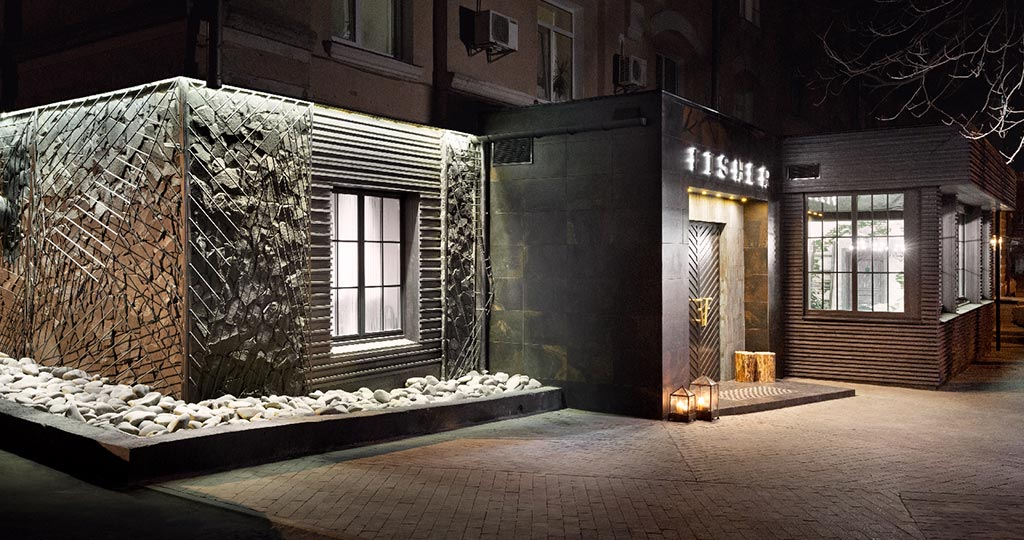 Fisher, un restaurant avec essence slow à Kiev