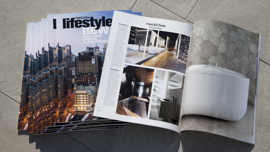 PORCELANOSA Grupo in Manhattan, the main attraction in the latest issue of Lifestyle magazine
