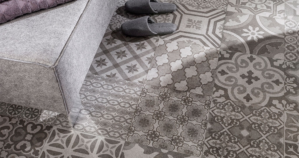 New Roche collection by Venis: inspired by cement and the essence of the first hydraulic tiles