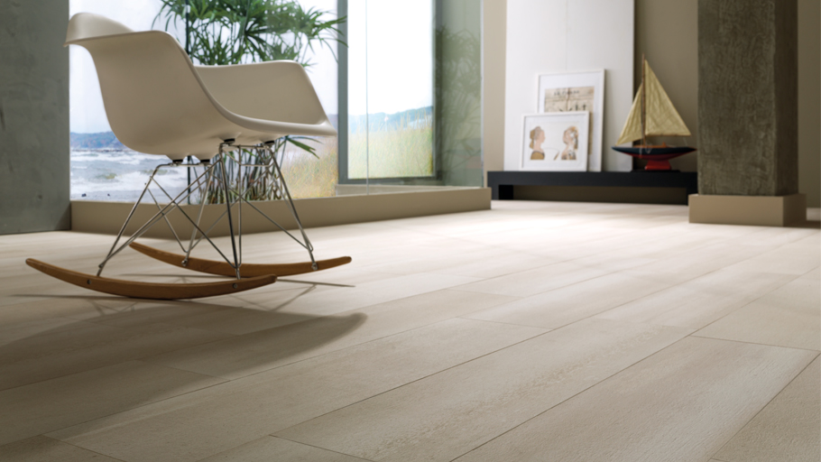 Warm and cosy Cement-effect floors with Beige Timber Concrete