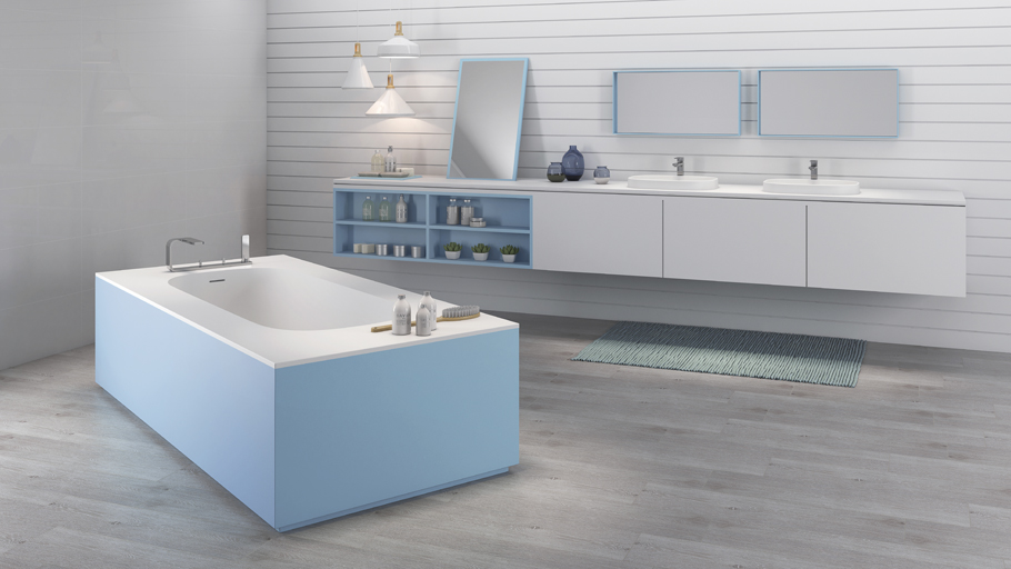The Unique collection of Krion® custom-made bathrooms attracts attention at the XXII Exhibition
