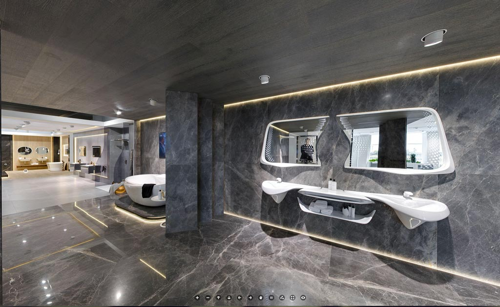 360º Showrooms for professionals and individual clients and customers from all over the world