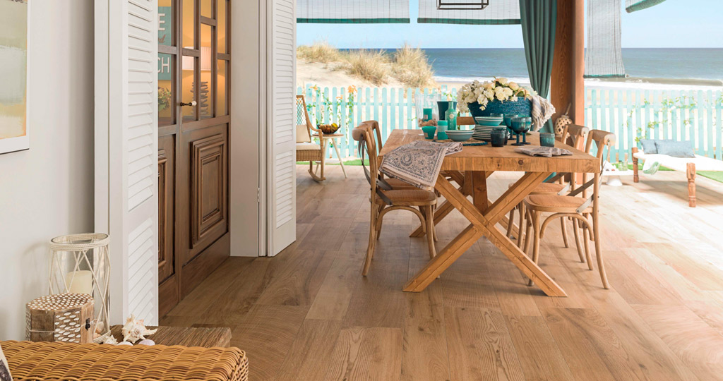 Par-Ker ceramic parquet, the secret to unalterable outdoor flooring