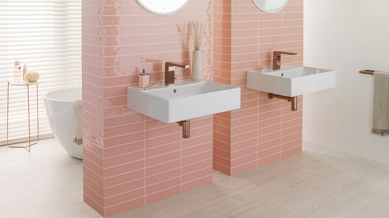 Powdery pink, the chromatic revolution of new architecture
