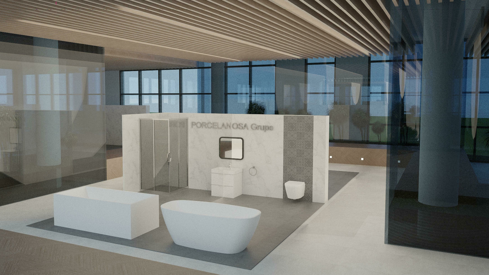 The 11th porcelanosa awards a natural space for the porcelanosa grupos showroom