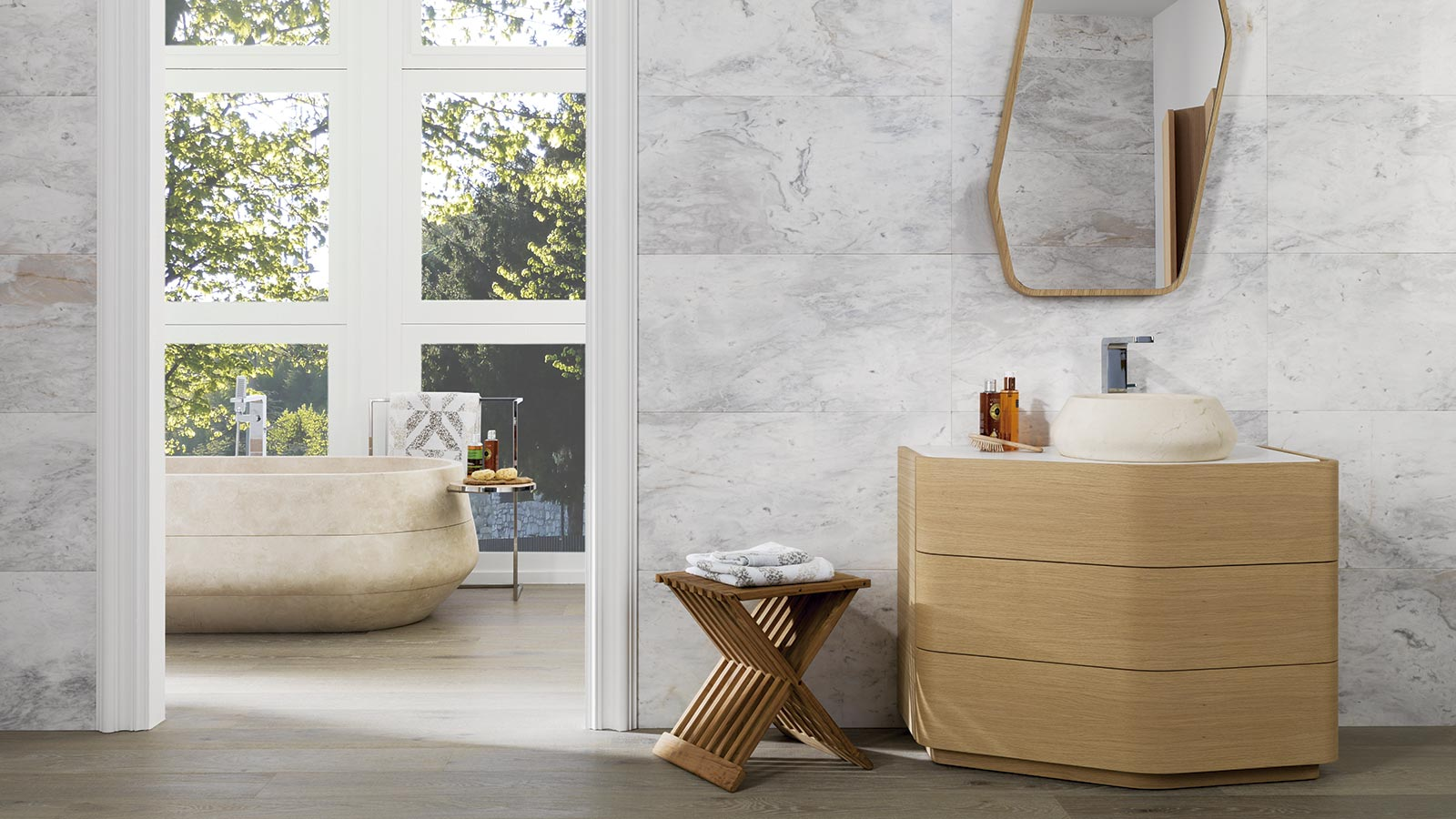 Four colour nuances offered by natural marble