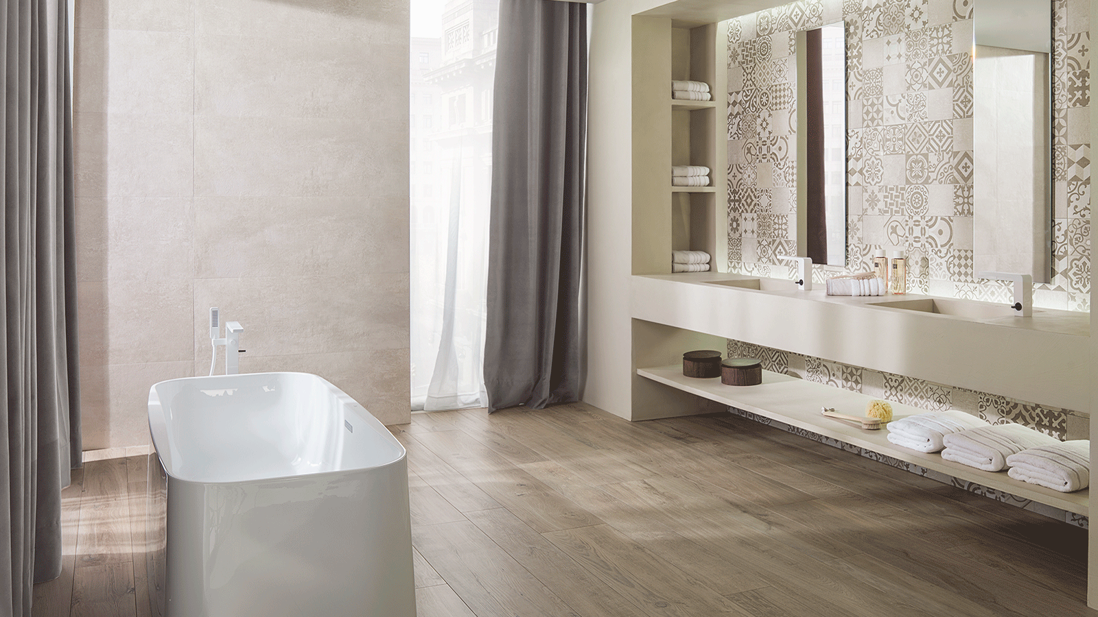 Porcelanosa brings the charm of hydraulic tiles back