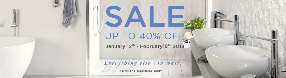 [EXPIRED] Porcelanosa SALE: Up to -40% OFF until 18FEB 2018
