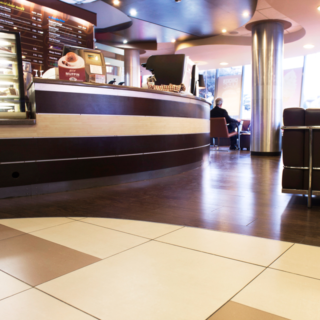 PORCELANOSA Group projects: McDonalds Polanco, in the City of Mexico