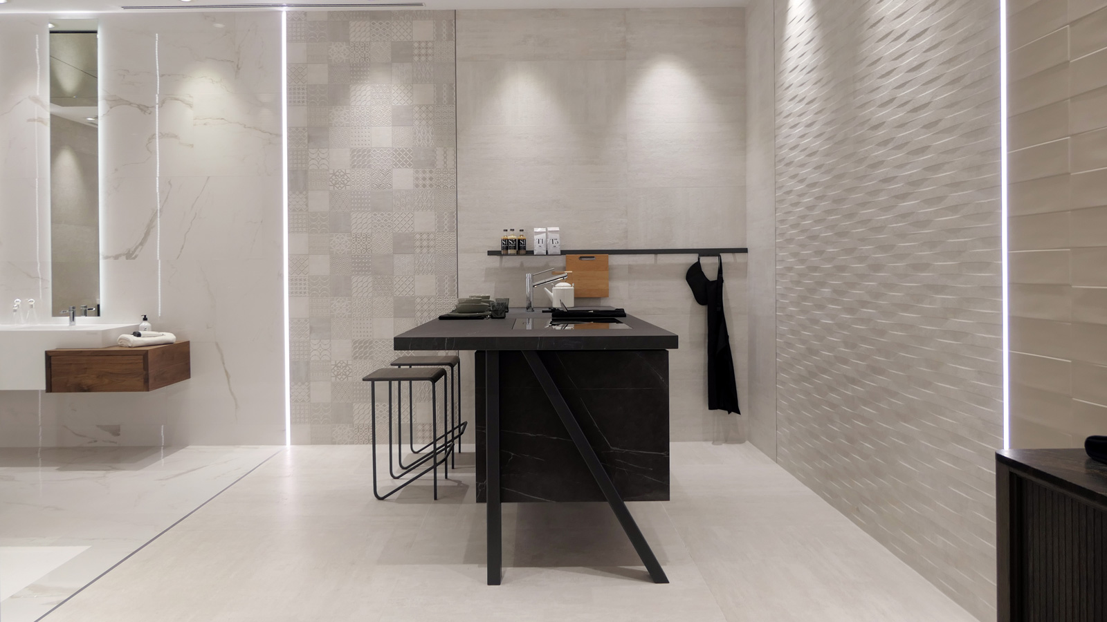 Gamadecor transfers its new bathrooms and kitchens to Cersaie