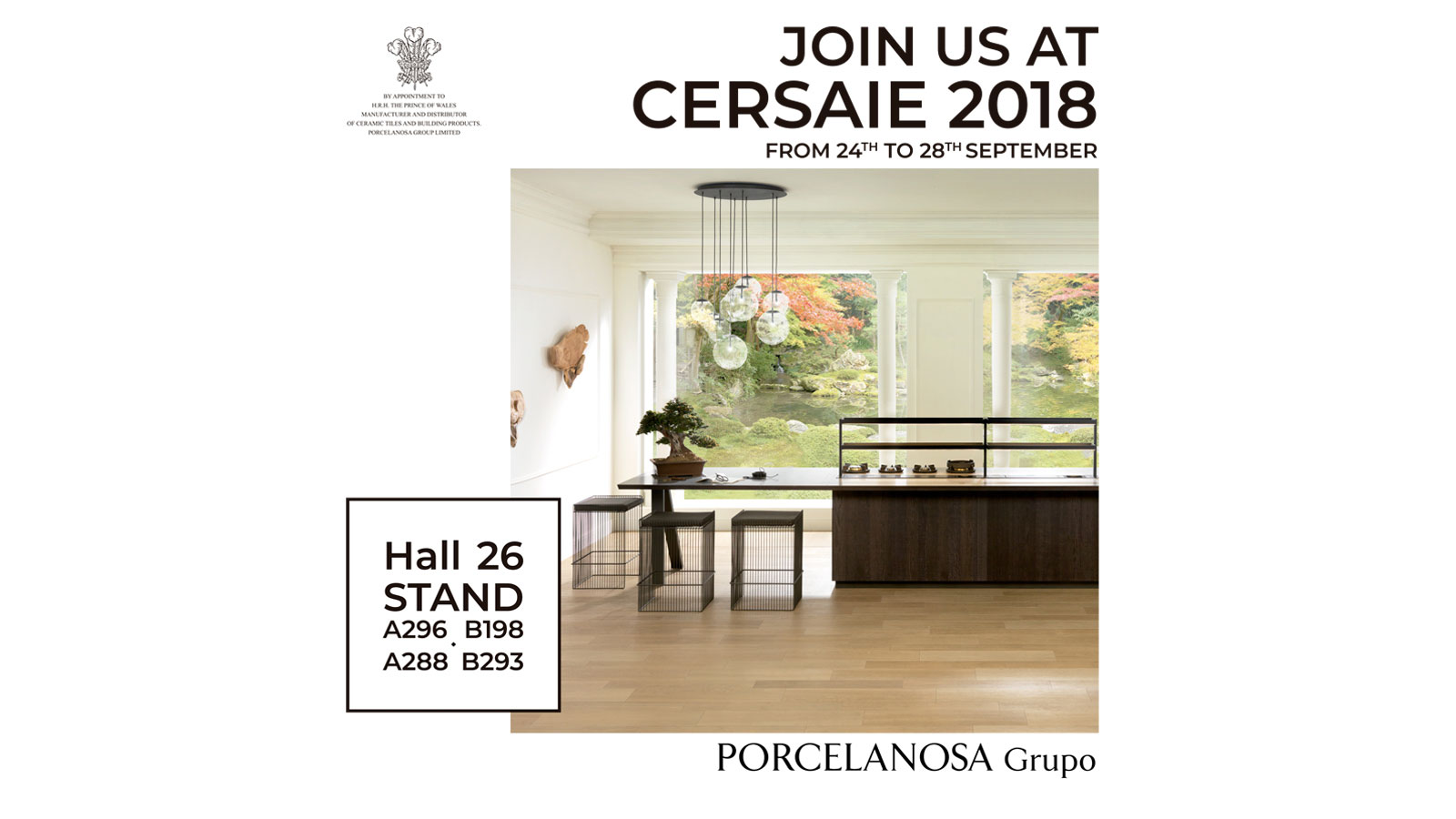 The PORCELANOSA Grupo showcases its latest innovations at Cersaie 2018