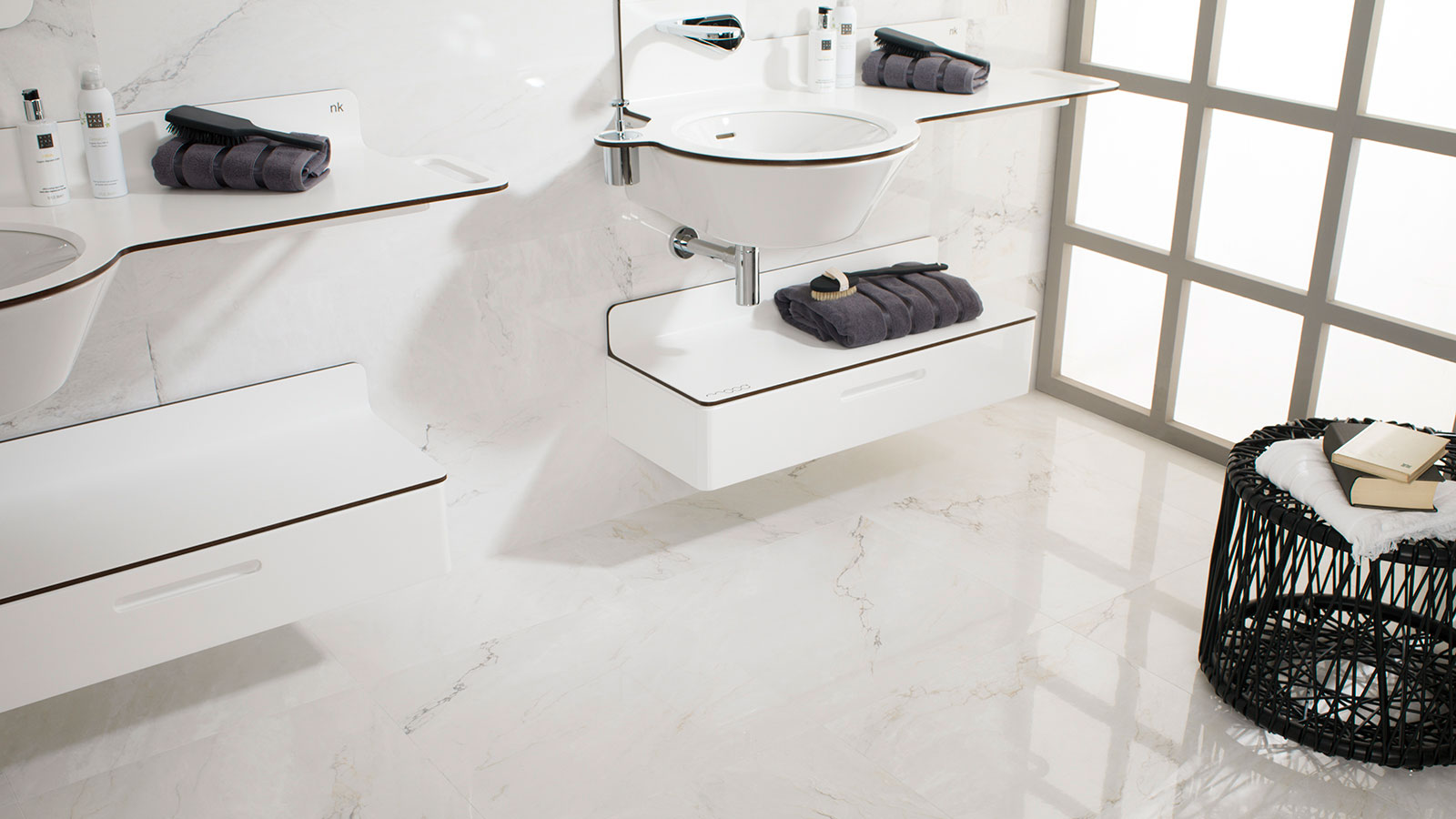 Trends: Ceramics recovers the composition of classic marble