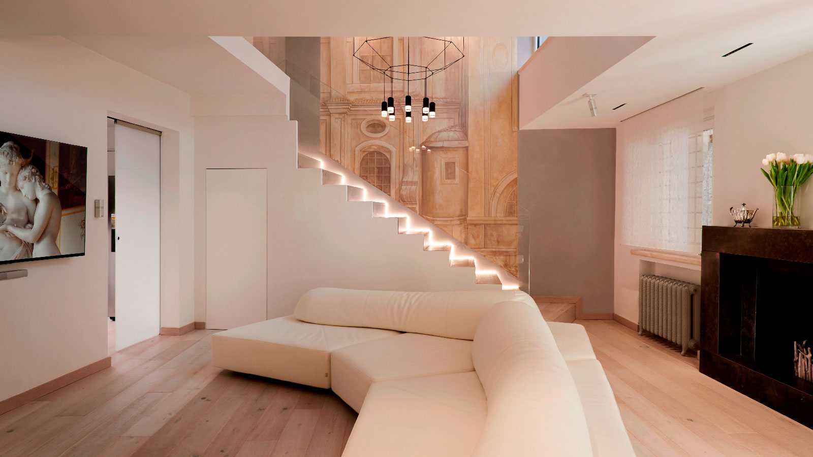 Porcelanosa Grupo Projects: The Navona Penthouse, from Baroque style to Avant-garde  in Rome