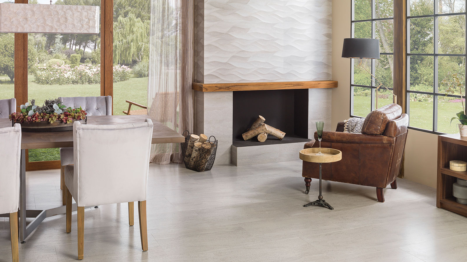 Stone inspired ceramic floor tiles and wall tiles