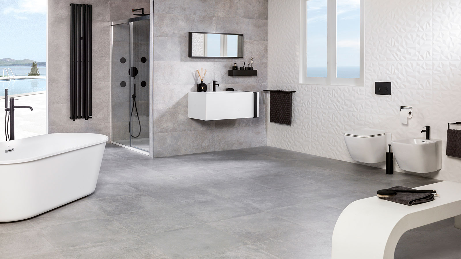 Rhin The Ceramic Collection By Venis Inspired By Cement