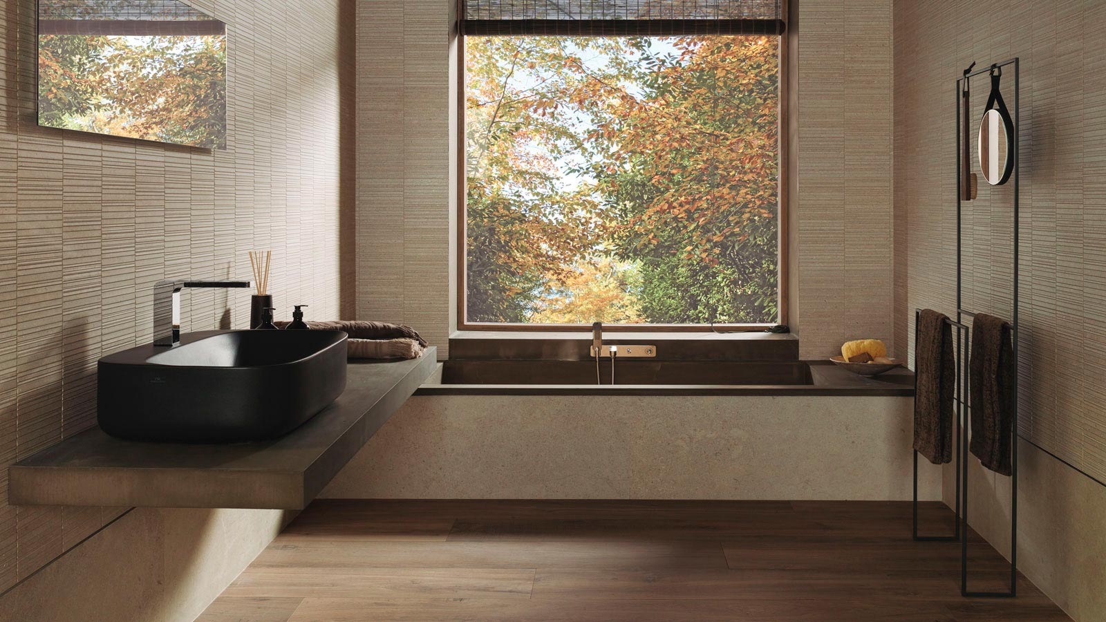The Premium Large Size Ceramics And Neutral Tones Strengthen The Image Of Porcelanosa