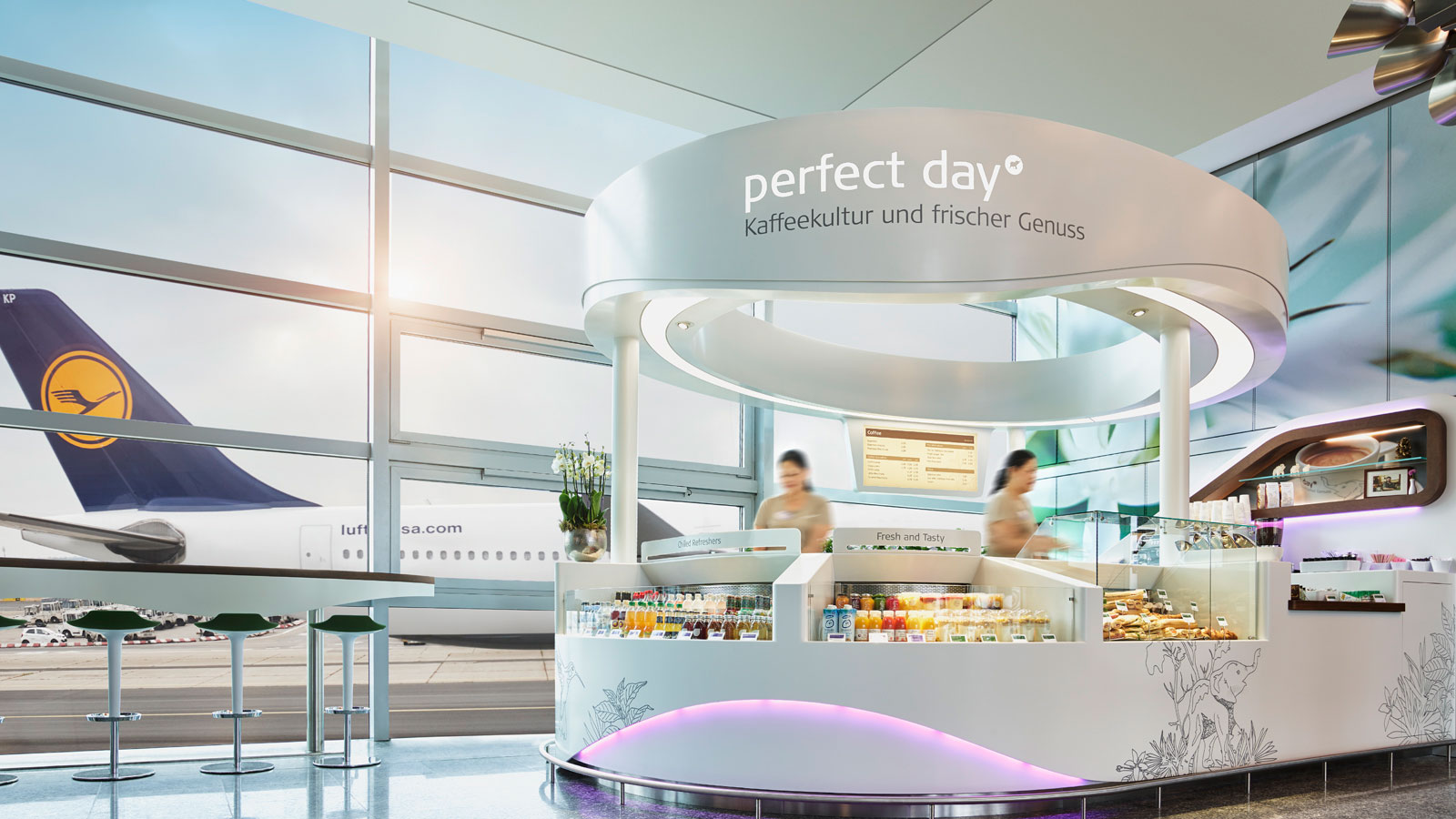 PORCELANOSA Grupo Projects: Frankfurt airports uses KRION™ in one of its establishments
