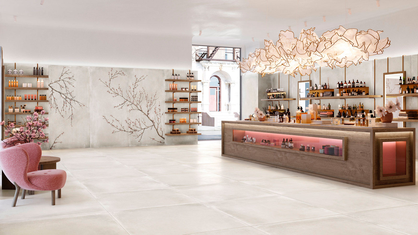 Urbatek turns watercolour into porcelain tiles at the 26th International Exhibition