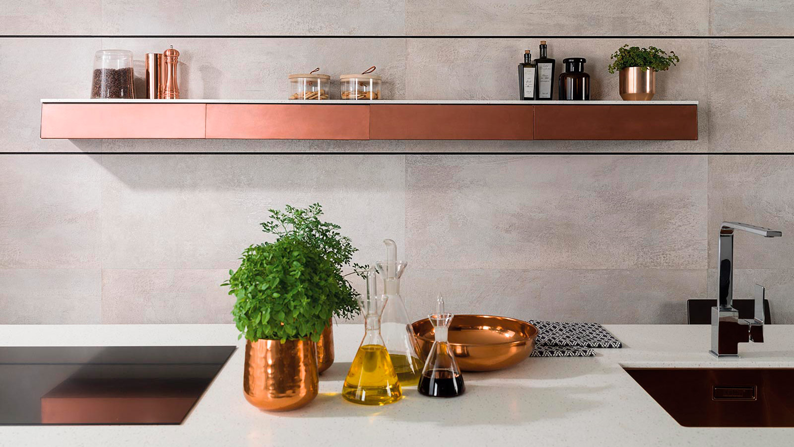 The most suitable materials for the kitchen backsplash
