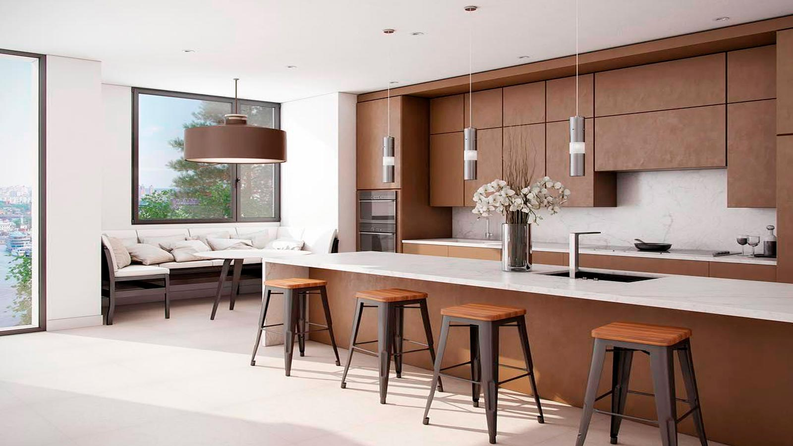 Marble kitchen worktops: a trend that never passes