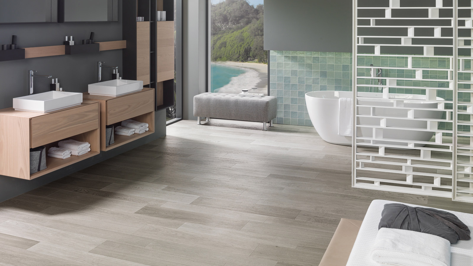 PAR-KER: wood-inspired bathrooms with the PORCELANOSA seal