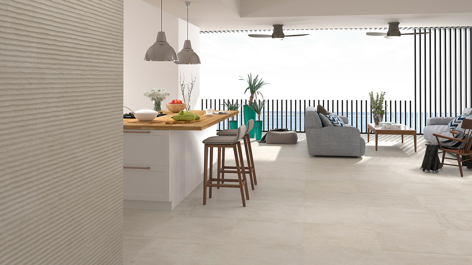 Ceramic solutions for kitchens by Venis: 3 designs for 3 styles