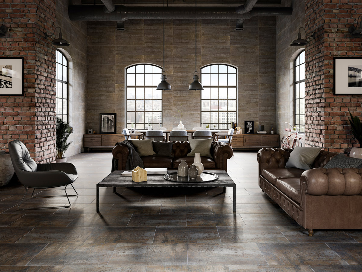 wonderful industrial style home design | Industrial home design, the 'loft' style - PORCELANOSA ...