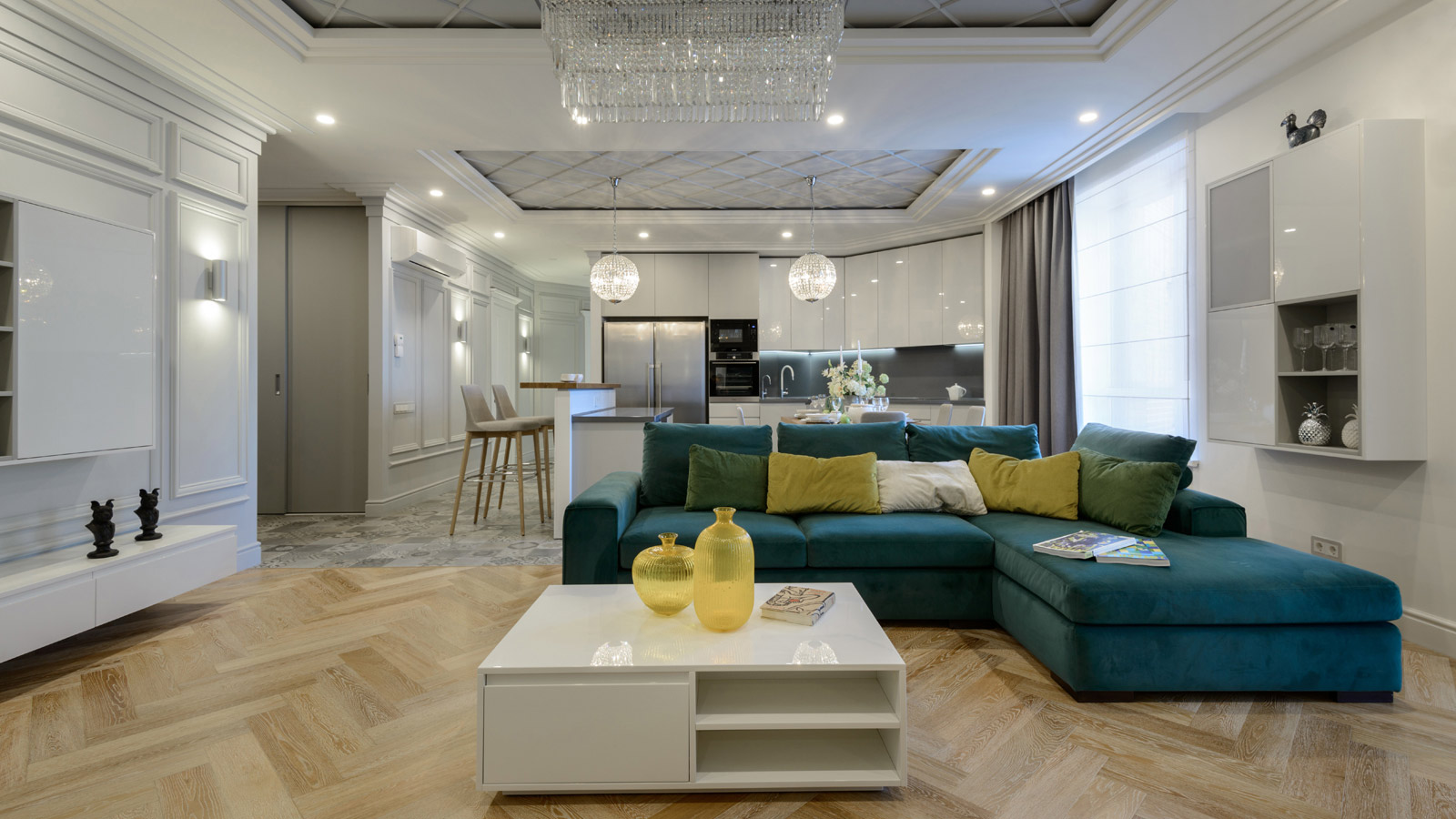 PORCELANOSA Grupo Projects: hydraulic charm in a home in Novosibirsk, Russia