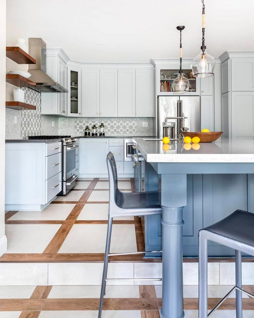 Kitchen Flooring Ideas: Combining Wood And Ceramic Tiles