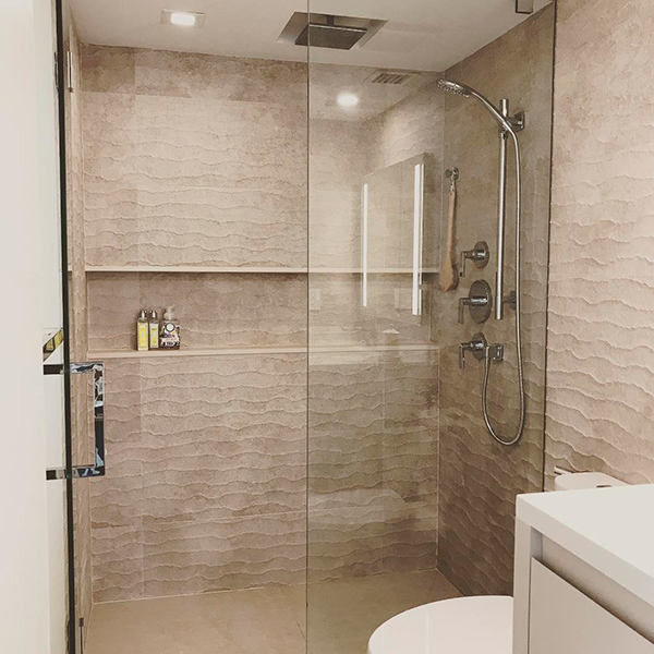 shower niche design