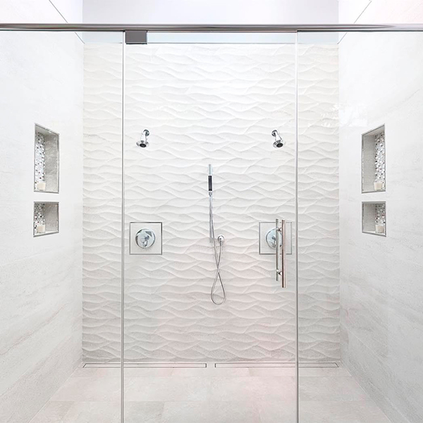 shower niche geometrically