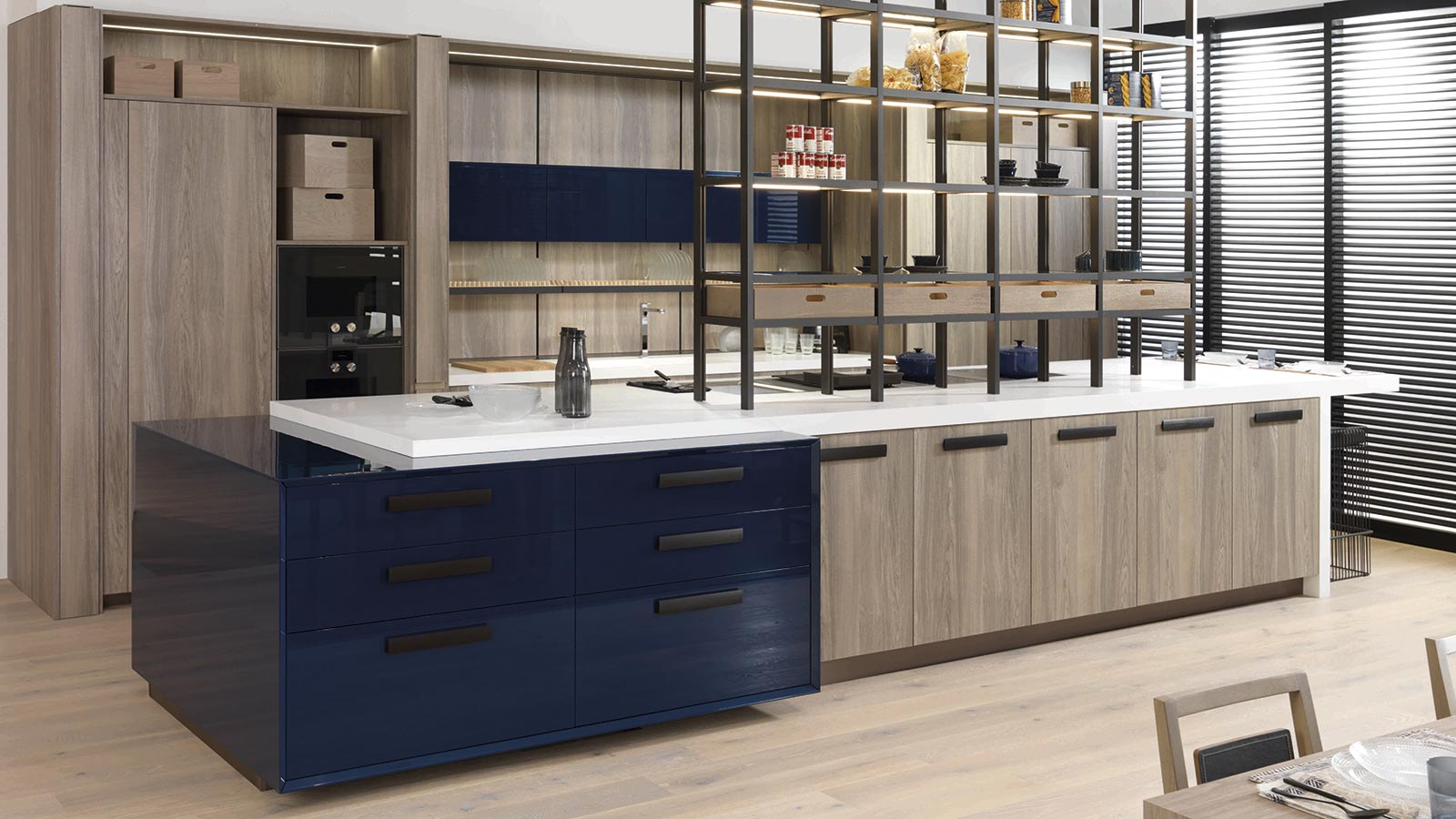 Unique kitchen islands, more surface for food prep and dining