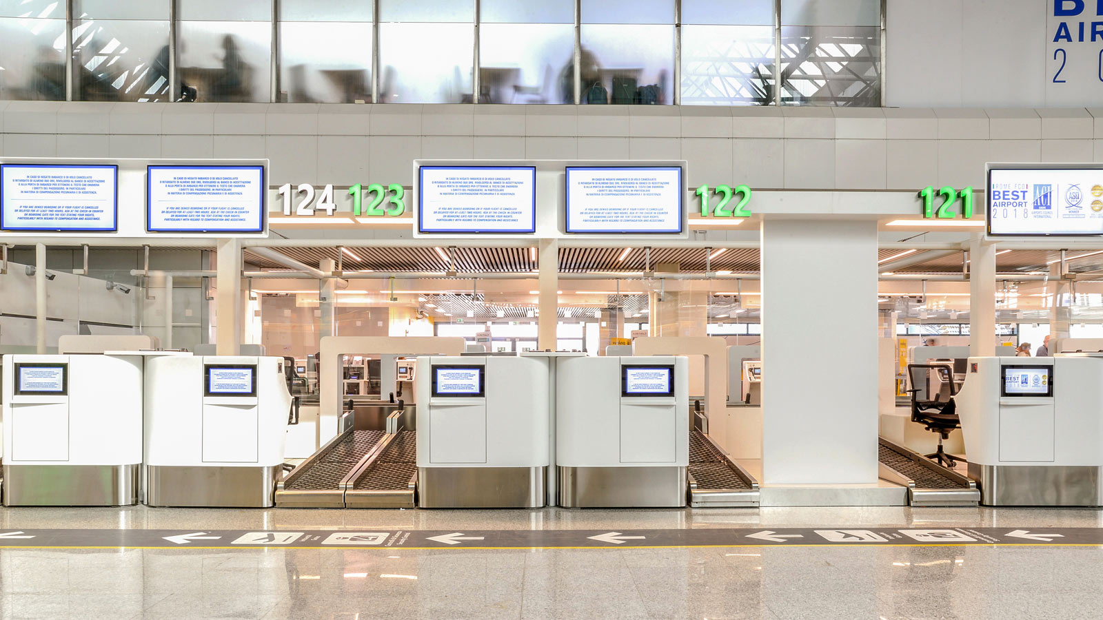 PORCELANOSA Grupo Projects: Krion™ K-Life plane sur l'aéroport de Rome-Fiumicino