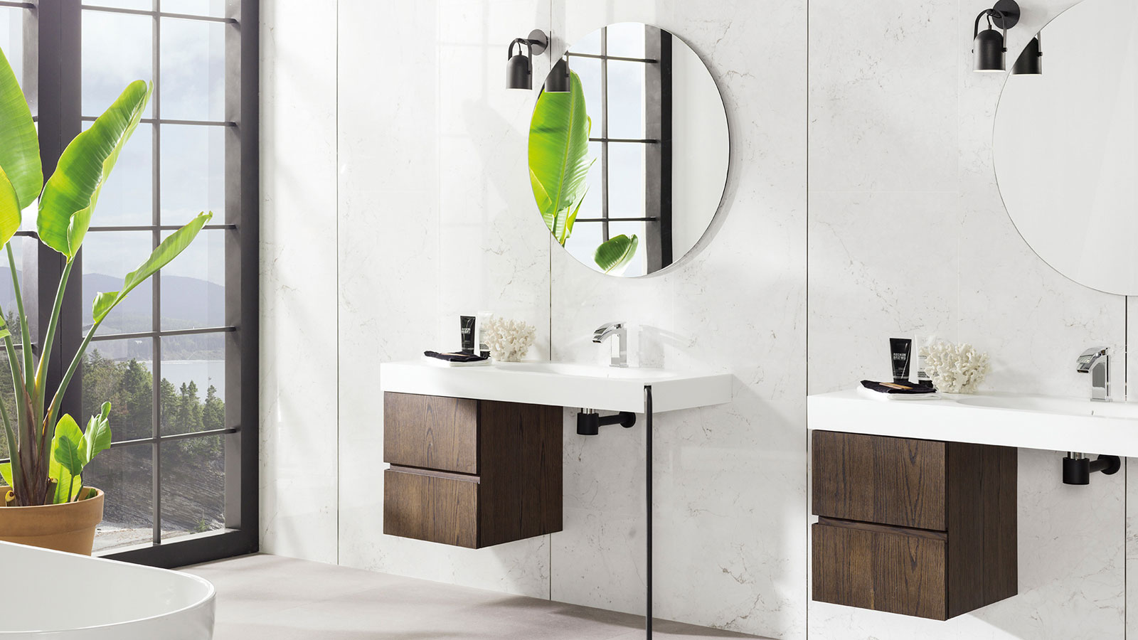 Fontana from Porcelanosa: a ceramic collection based on Carrara marble