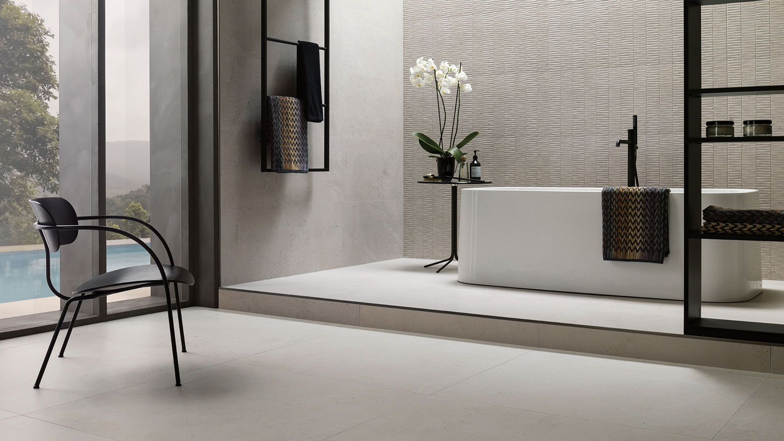 Porcelanosa renews the stone-inspired ceramic classic with Durango