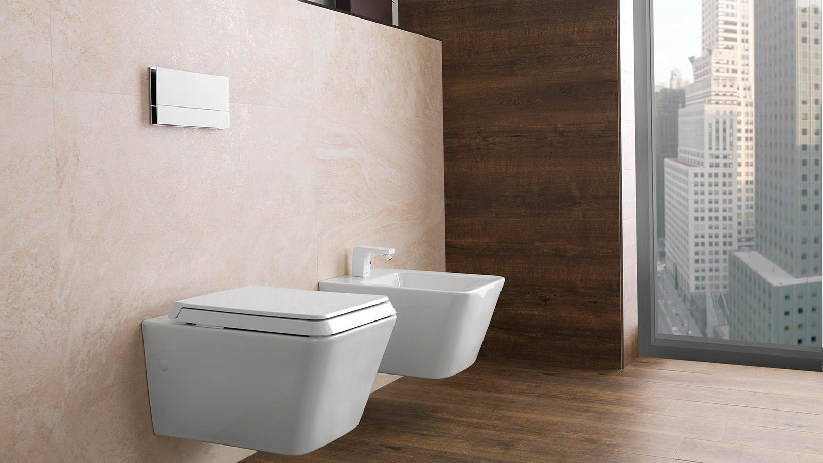Wall hung toilets, the advantages of concealed cisterns