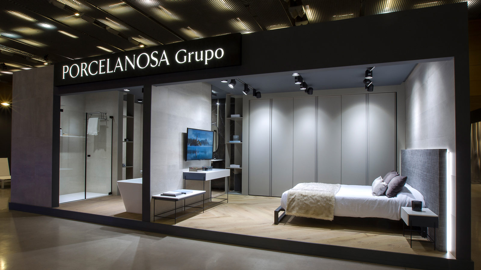 Premium ceramics and ventilated facades confirm the presence of PORCELANOSA Grupo at the Interihotel fair