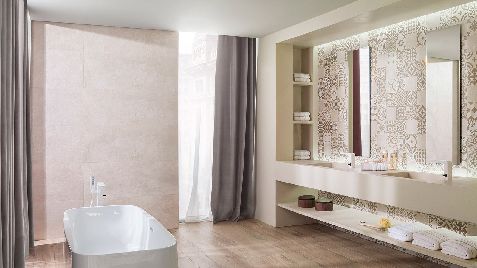 PORCELANOSA Group's ceramic tile collections usher in the spring with new prints and floral motifs