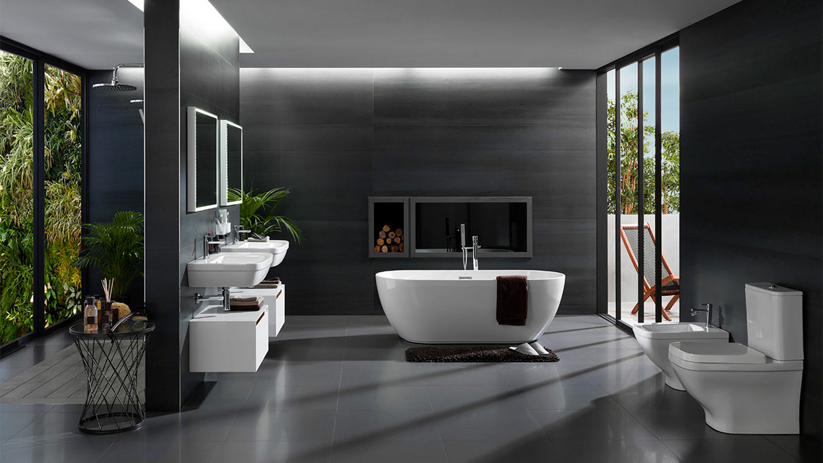 Black and white bathrooms will always be in style