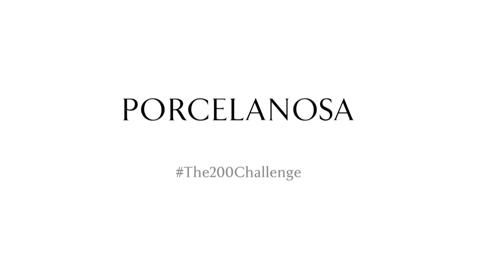 Porcelanosa changes its logo to support the fight against coronavirus
