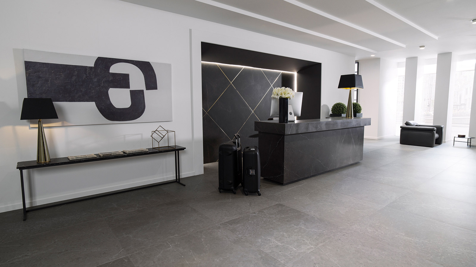 PORCELANOSA Group checks in at this luxury reception
