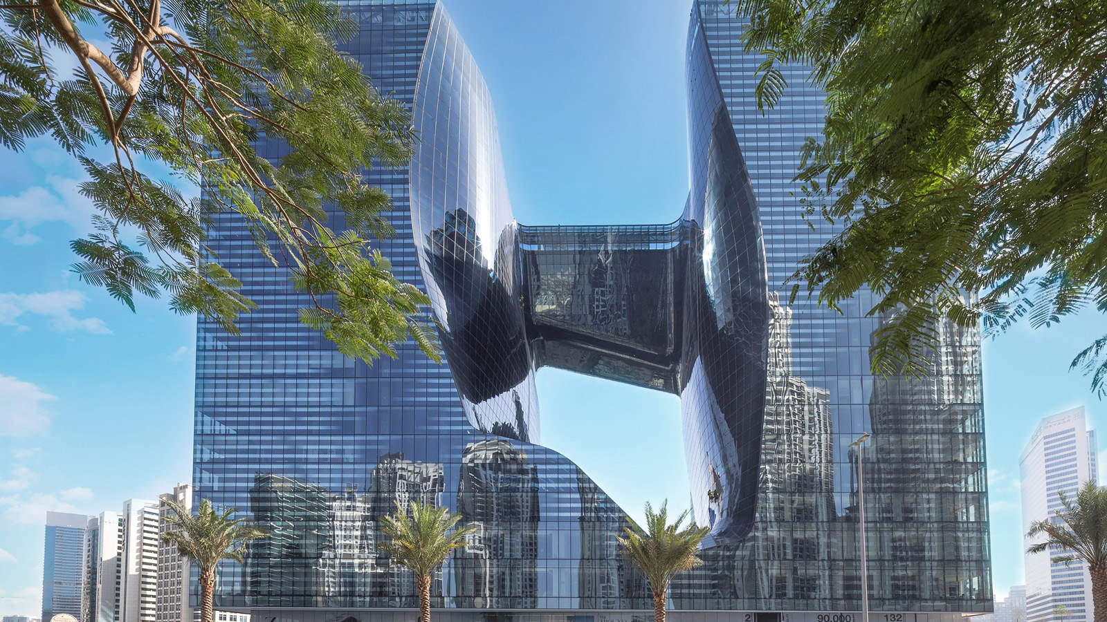 Hotel Me Dubai, the last architectural work by Zaha Hadid