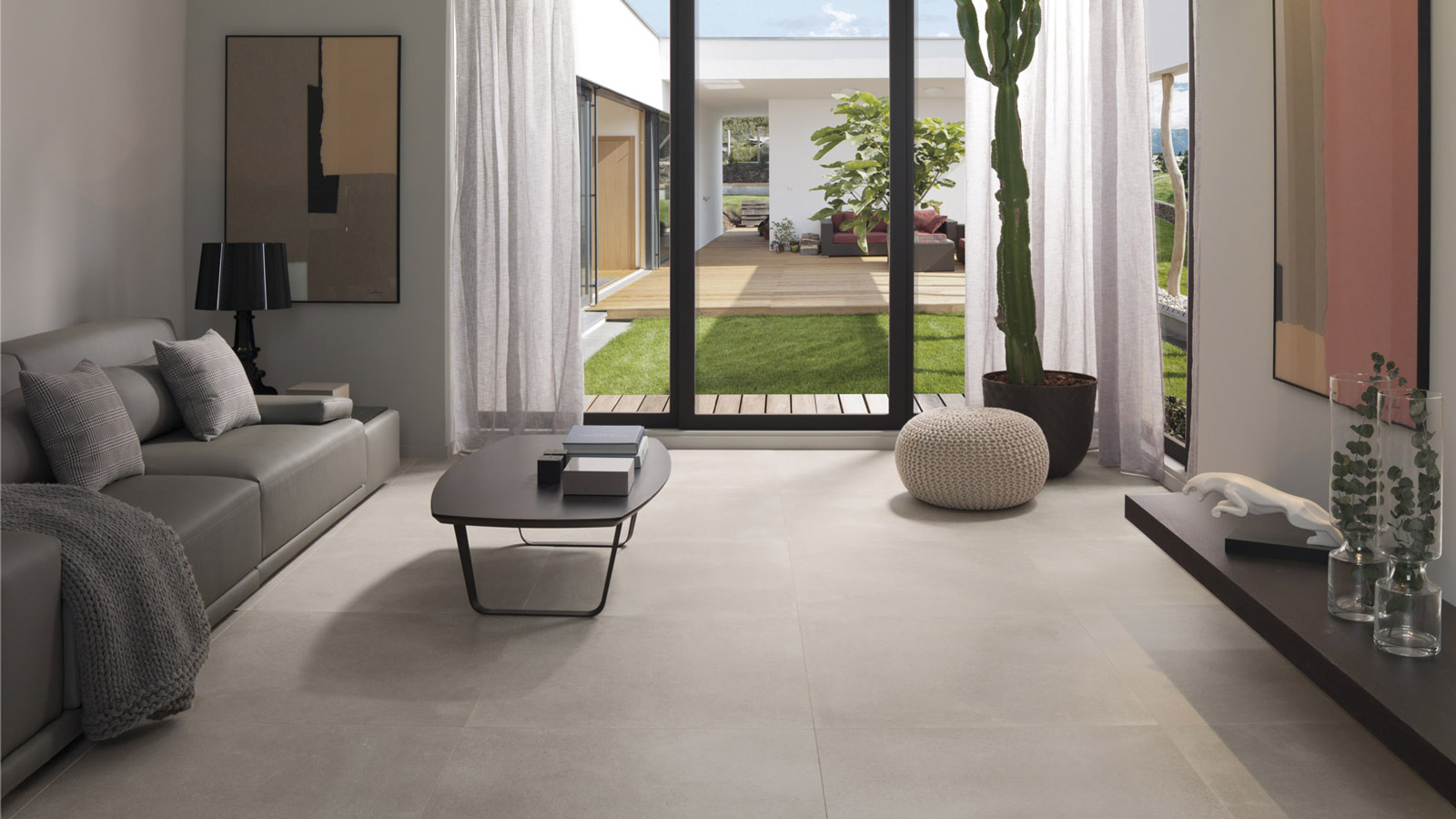 laying large format porcelain tiles