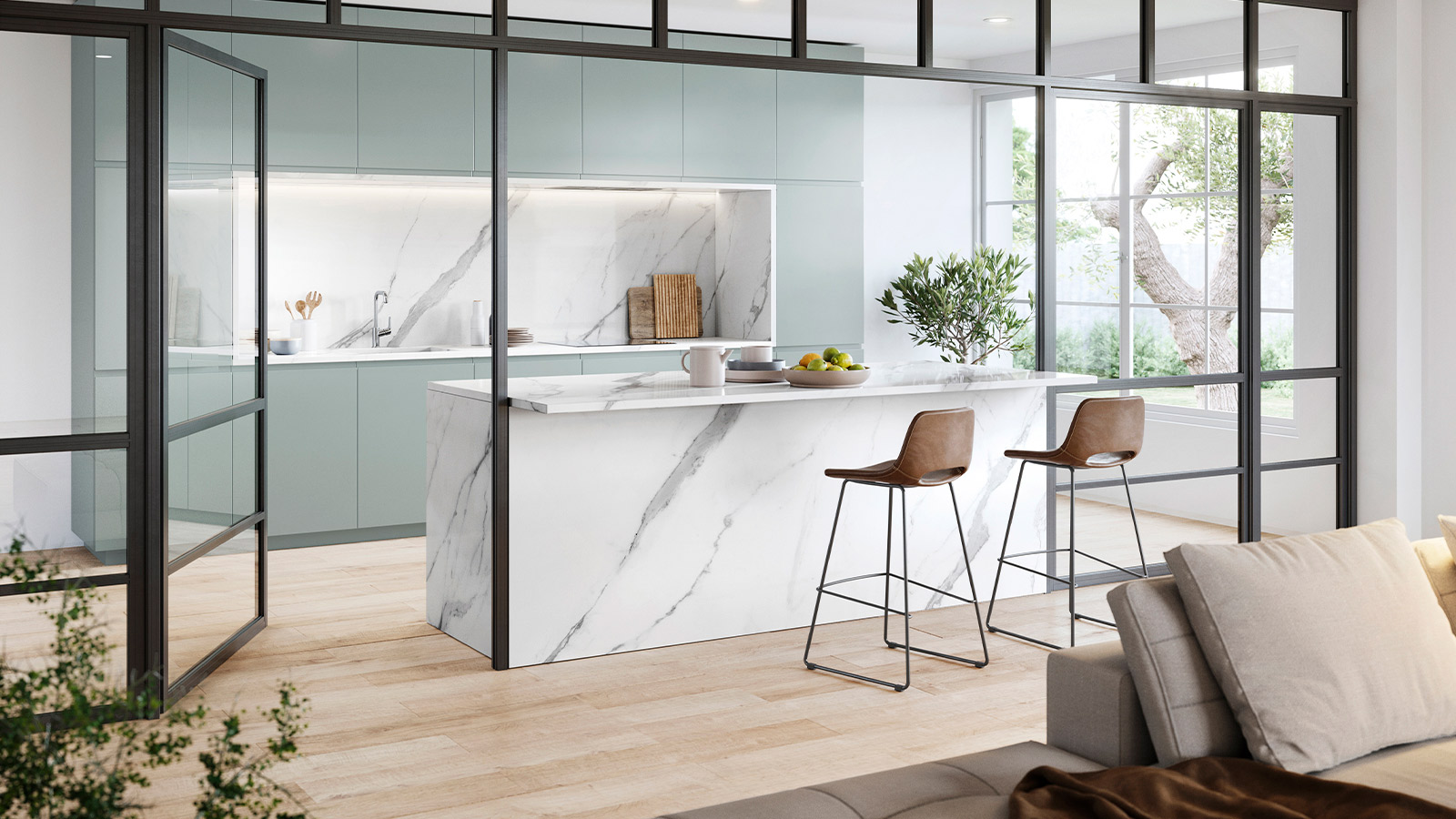Open kitchen living rooms the new trend in interior design
