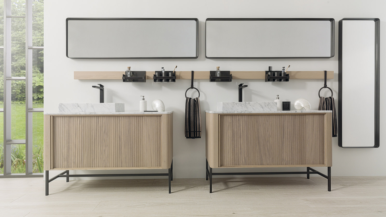 Ways to organise your bathroom using PORCELANOSA Group collections