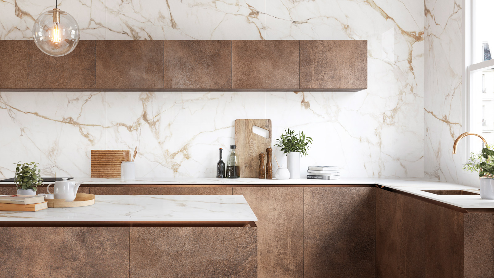 Give your kitchen a makeover with chic collections by Porcelanosa