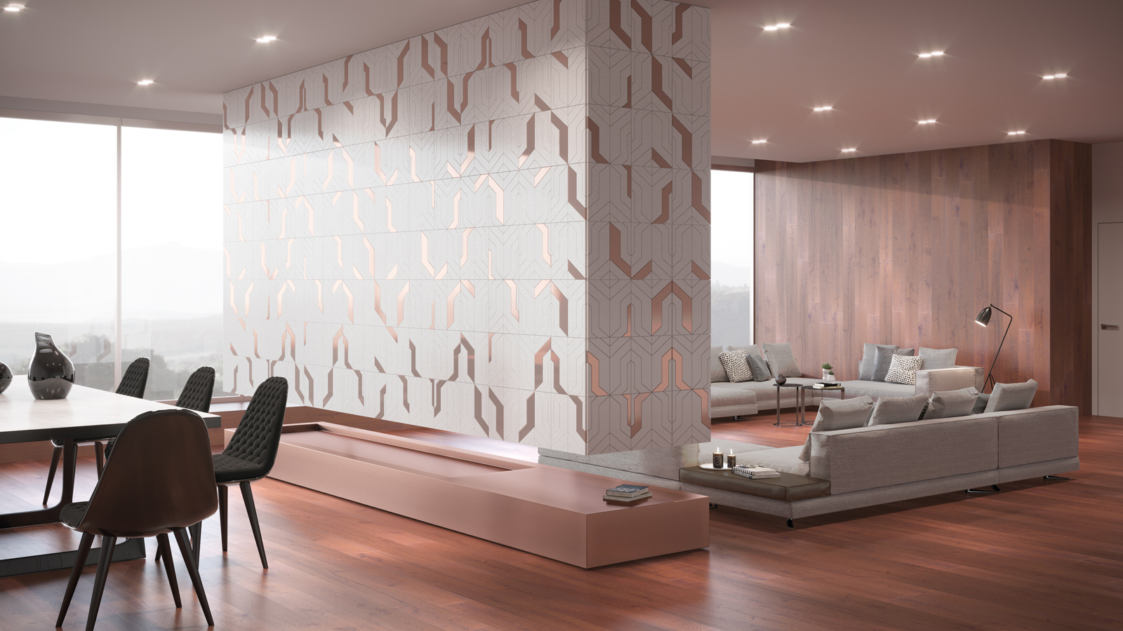 Focus, by L'Antic Colonial: an artistic collage crafted in natural stone