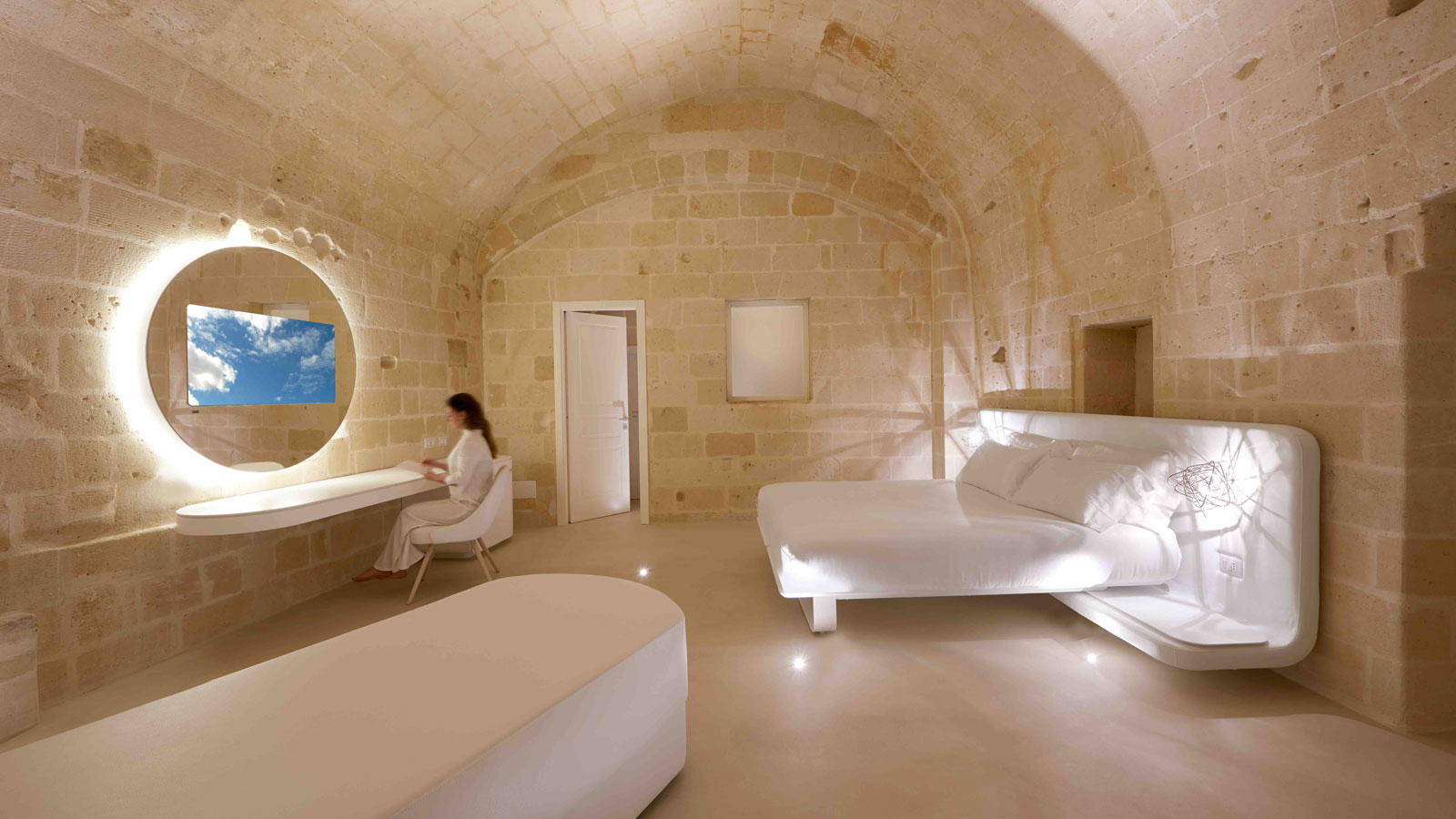 PORCELANOSA Group Projects: Aquatio Cave Luxury Hotel & SPA, a luxury cave in which to be pampered in Matera