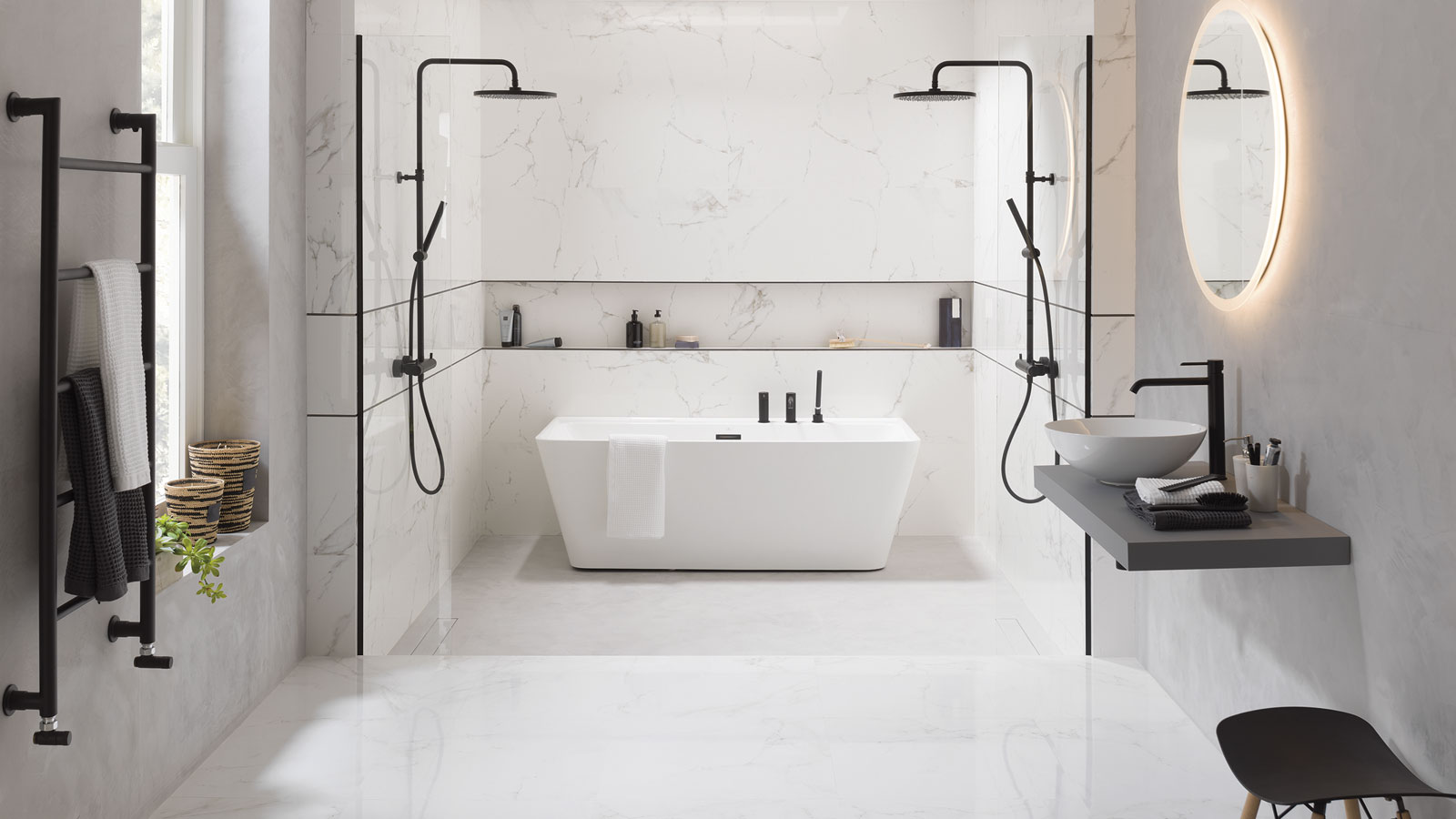 Carrara by Porcelanosa: A multidisciplinary collection inspired by Italian white marble
